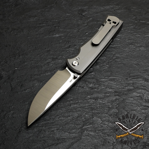 Chaves Liberation 229 Drop Point, Stone Washed Titanium