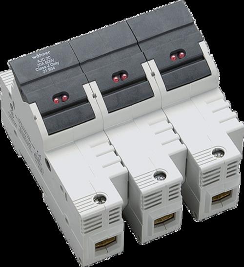 Sprecher & Schuh 31925 3-Pole DIN-rail Easy Switch LED Fuse Holder