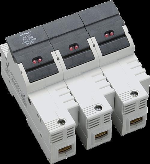 Sprecher & Schuh 31934 3-Pole DIN-rail Easy Switch LED Fuse Holder