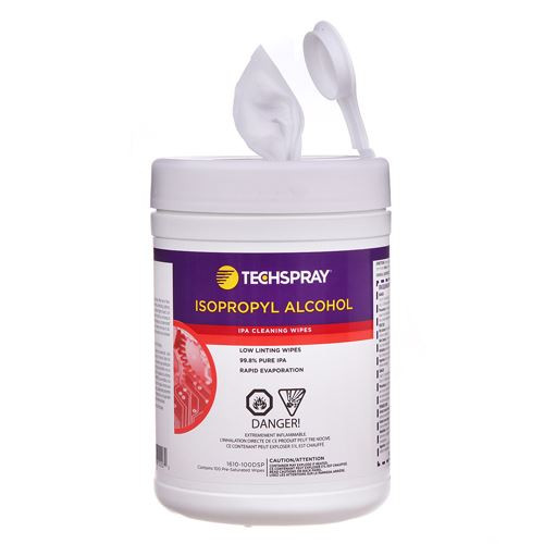 TechSpray 1610-100DSP Isopropyl Alcohol Wipes 99.8% IPA Wipes - Disposable Tub