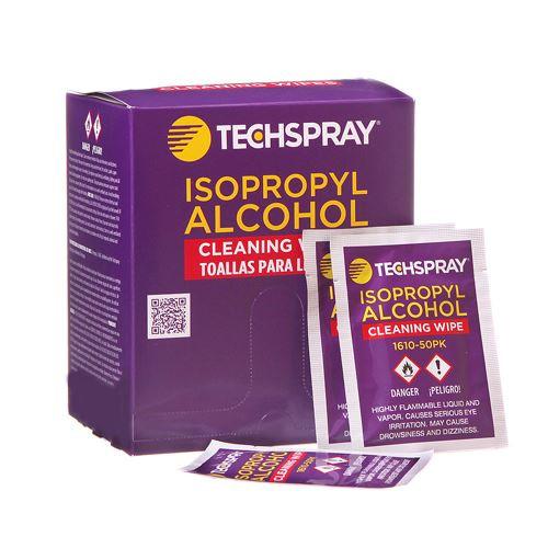 TechSpray 1610-50PK 50 Isopropyl Alcohol 99.8% IPA Individually Wrapped Wipes