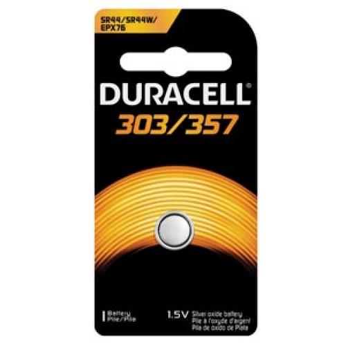 Duracell 303/357 Silver Oxide Button Battery