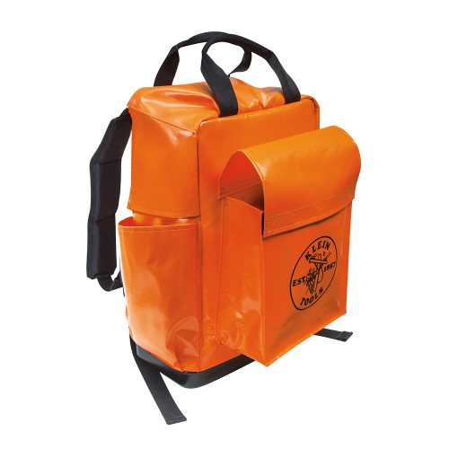 "Klein 5185ORA 18"" Orange Tool Bag Backpack"