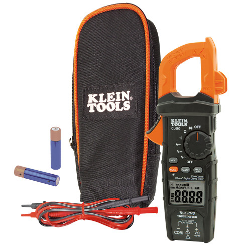 Klein CL600 600A AC Auto-Ranging True RMS Digital Clamp Meter