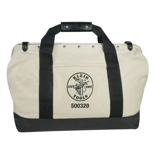 Klein 50032 20: Leather-Bottom Canvas Tool Bag