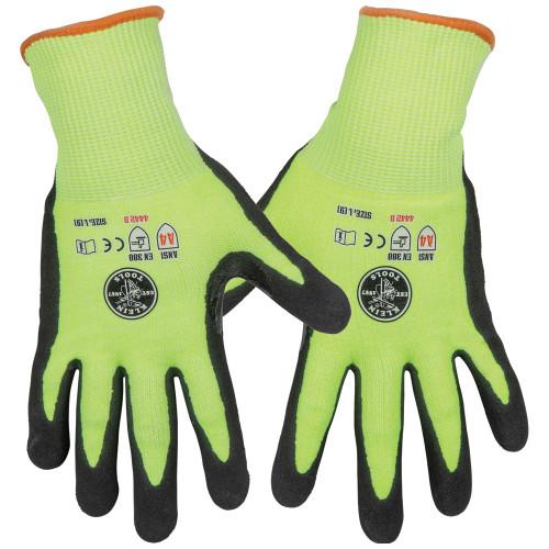 Klein 60186 2-Pair Large Cut Level 4 Touchscreen Work Gloves