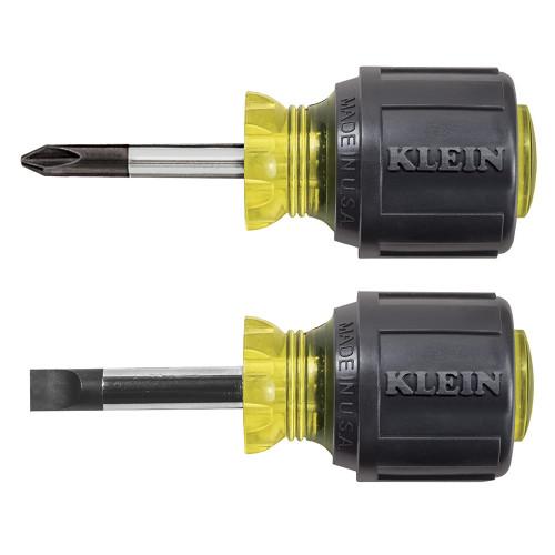 Klein 85071 2-Piece Stubby Slotted & Phillips Screwdriver Set