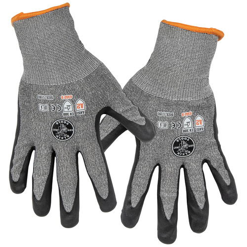 Klein 60185 2-Pair Large Cut Level 2 Touchscreen Work Gloves