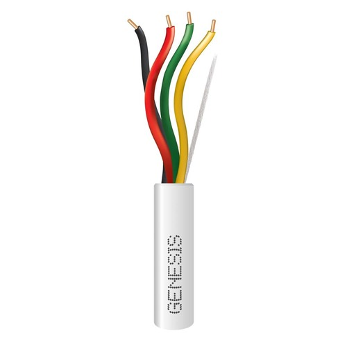Genesis 45071101 18/4 Solid White 1000Ft. Pull Box Plenum Wire