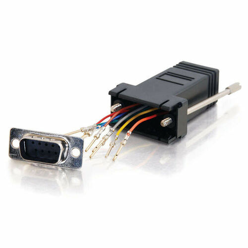 C2G 02947 RJ45 to DB9 Male Serial RS232 Black Modular Adapter