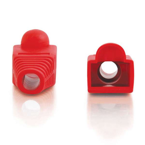 C2G 04755 RJ45 Snagless Red Boot Cover, 50 Pack