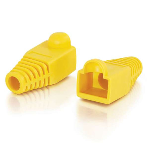 C2G 04756 RJ45 Snagless Yellow Boot Cover, 50 Pack