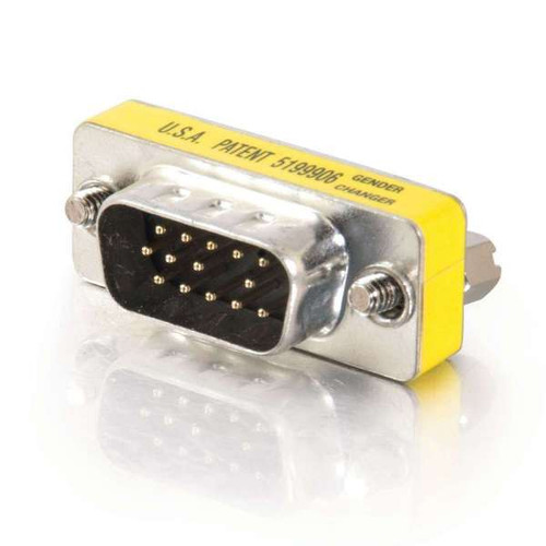 C2G 20686 HD15 VGA M/M Mini Gender Changer