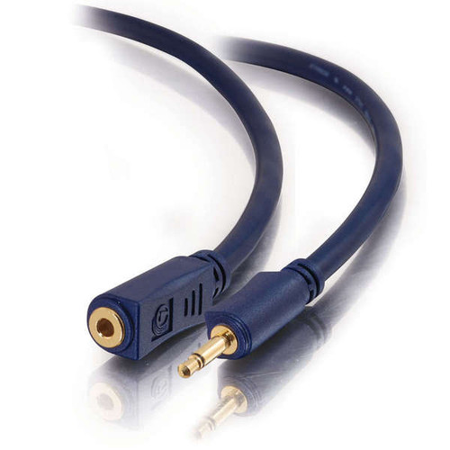 C2G 40627 12Ft Velocity 3.5MM M/F Mono Audio Extension Cable