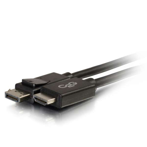 C2G 54327 10Ft DisplayPort Male to HDMI Male Black Adapter Cable