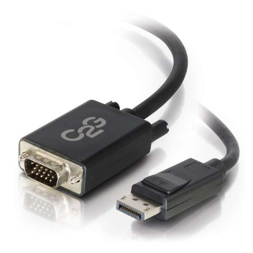 C2G 54331 3Ft DisplayPort Male to VGA Male Black Active Adapter Cable