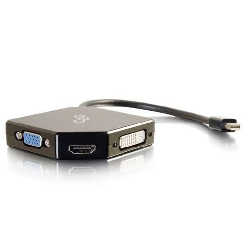 C2G 54341 Mini DisplayPort to HDMI, VGA, or DVI Adapter Converter