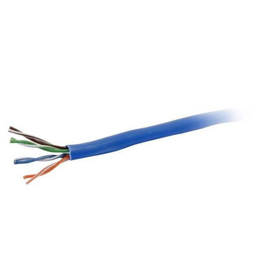 C2G 56019 1000Ft Cat6 Plenum CMP-Rated Blue Bulk Unshielded (UTP) Ethernet Network Cable