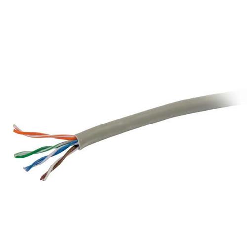 C2G 56020 1000Ft Cat6 Plenum CMP-Rated Gray Bulk Unshielded (UTP) Ethernet Network Cable