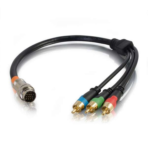 C2G 60096 1.5Ft RapidRun RCA Component Video Flying Lead