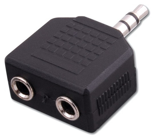 Vanco AD531 (2) 3.5mm Stereo Jacks to 3.5mm Stereo Plug Adapter