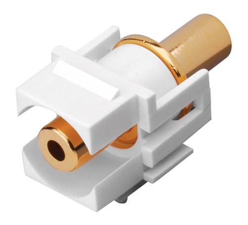 Vanco 820489 White 3.5mm Jack Keystone Insert