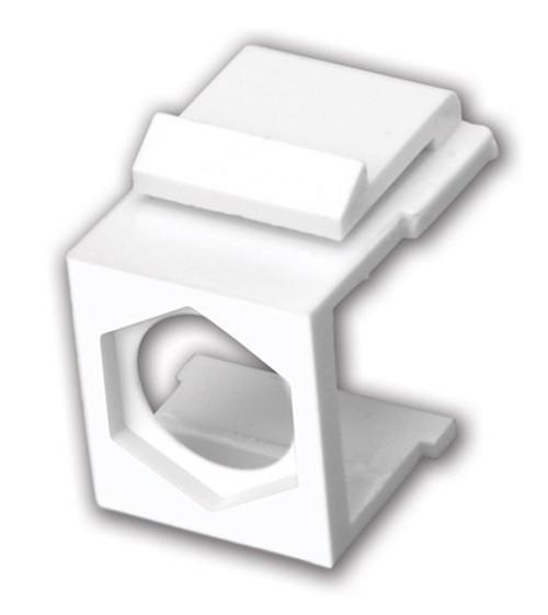 Vanco 820440 White Blank Hex Hole Keystone Inserts, 5 Pack