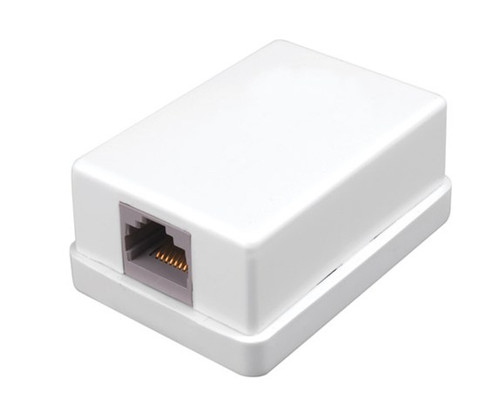 Vanco 820351 White Single Surface Mount Housing