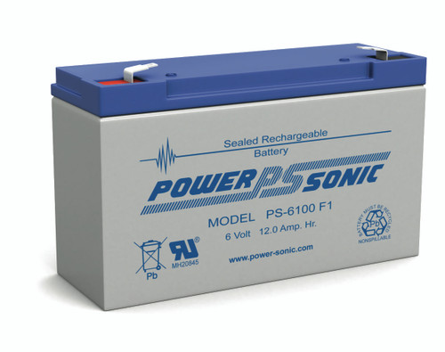Power Sonic PS-6100F2 Rechargeable Sealed Lead Acid Battery