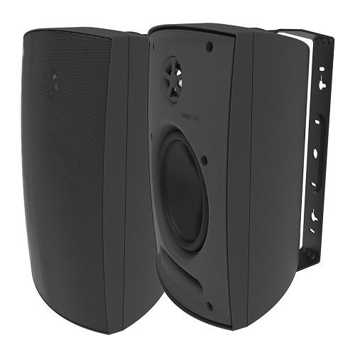 """Adept Audio IO60B 6.5"""" Black Surface-Mount Indoor/Outdoor Speakers"""