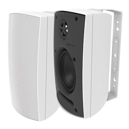 """Adept Audio IO50W 5.25"""" White Surface-Mount Indoor/Outdoor Speakers"""