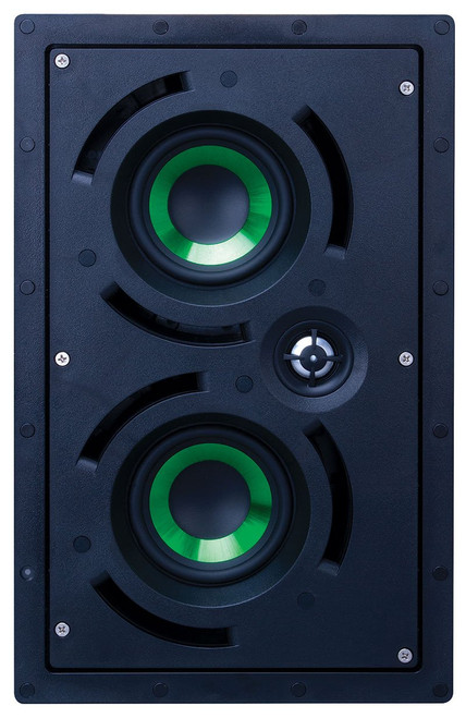 "Beale Street IWLCR4-MB Dual 4"" LCR 2-Way In-Wall Speaker"