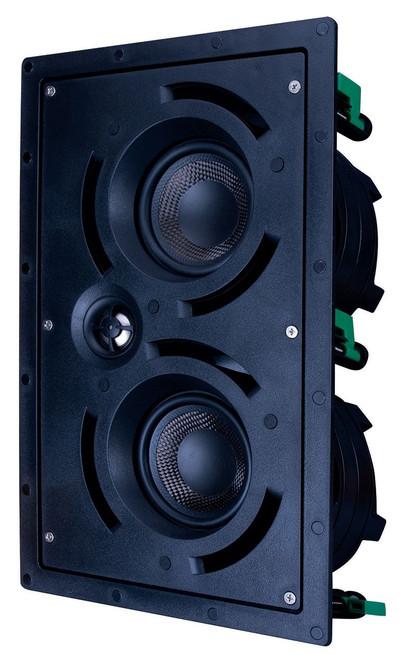 "Beale Street IWLCR4-BB Dual 4"" LCR 2-Way In-Wall Speaker"