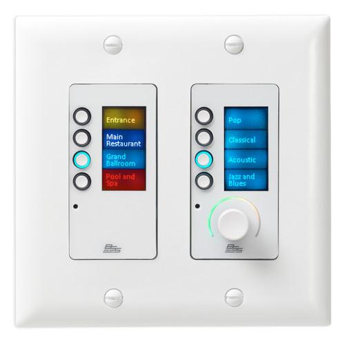BSS EC-8BV-WHT-US 8 Buttons & Volume Ethernet Controller
