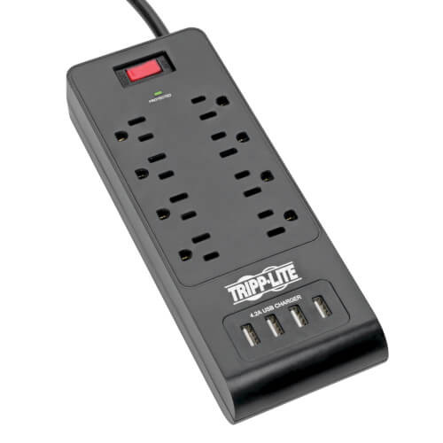 Tripp-Lite TLP864USBB 8-Outlet Surge Protector