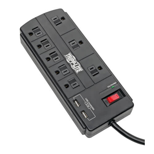 Tripp-Lite TLP88USBB 8-Outlet Surge Protector