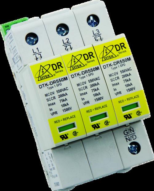 Ditek DTK-DR480P4 DIN Rail Surge Protective Device