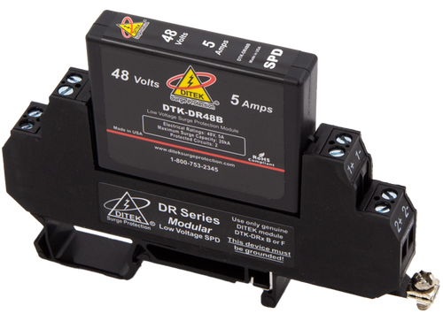 Ditek DTK-DR48B Low Voltage DIN Rail Surge Protector
