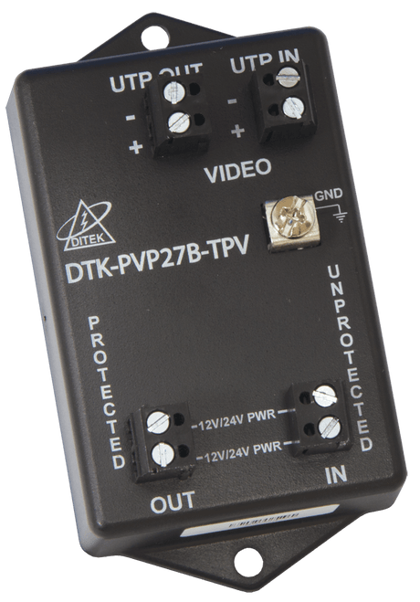Ditek DTK-PVP27BTPV Fixed Camera Twisted Pair Wiring Surge Protector