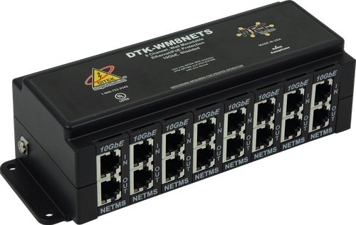 Ditek DTK-WM8NETS Wall Mount 8 Channel Network Surge Protector
