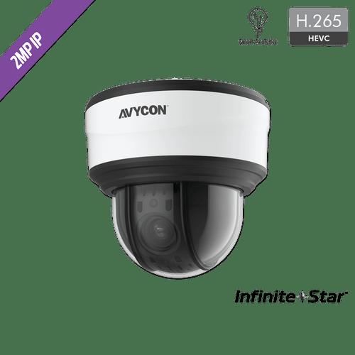 Avycon AVC-NPTZ21X12L 2MP Auto-Tracking H.265 Weatherproof 12X Mini PTZ IP Camera