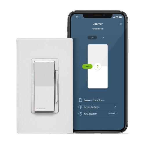 Leviton D26HD-1BW Decora Smart Wi-Fi (2nd Gen) 600W Dimmer
