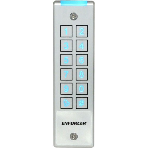 Seco-Larm SK-2323-SPAQ Mullion-Style Piezoelectric Outdoor Access Keypad, with Built-In Proximity Card Reader