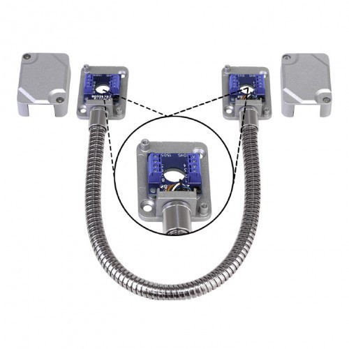 Seco-Larm SD-969-T15Q/S Armored Door Cord, Pre-Wired Terminal Blocks and Removable Covers, Silver