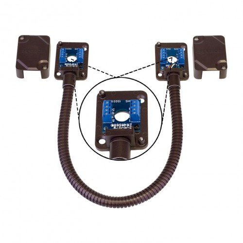 Seco-Larm SD-969-T15Q/B Armored Door Cord, Pre-Wired Terminal Blocks and Removable Covers, Bronze