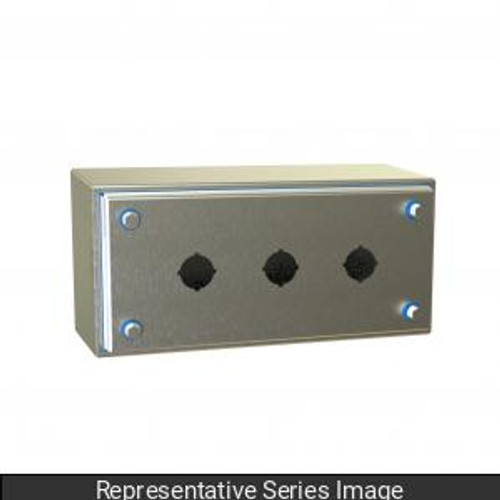 Hammond Manufacturing HYPB2SS Hygienic Type 4X Stainless Steel Pushbutton Enclosure