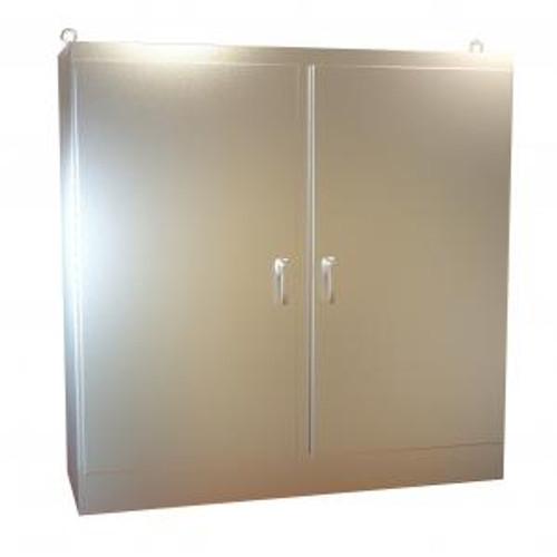 Hammond Manufacturing HN4FS727224DASS Type 4X Stainless Steel Two Door Freestanding Enclosure