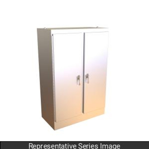 Hammond Manufacturing HN4FS907224DASS Type 4X Stainless Steel Two Door Freestanding Enclosure