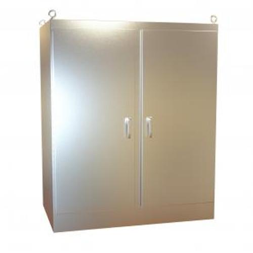 Hammond Manufacturing HN4FS726036DASS Type 4X Stainless Steel Two Door Freestanding Enclosure