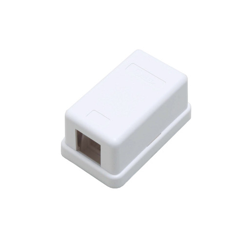 Quest NSB-5210 1-Port White Unloaded Keystone Surface Mount Box